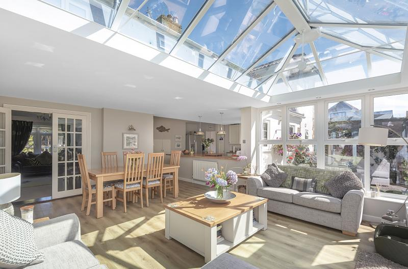 Dining area and conservatory