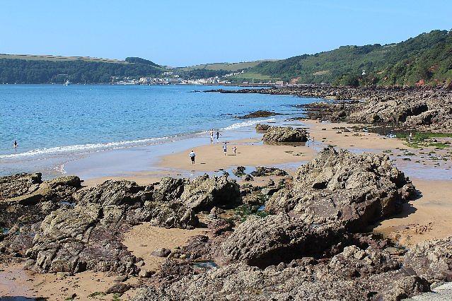 communal private beach