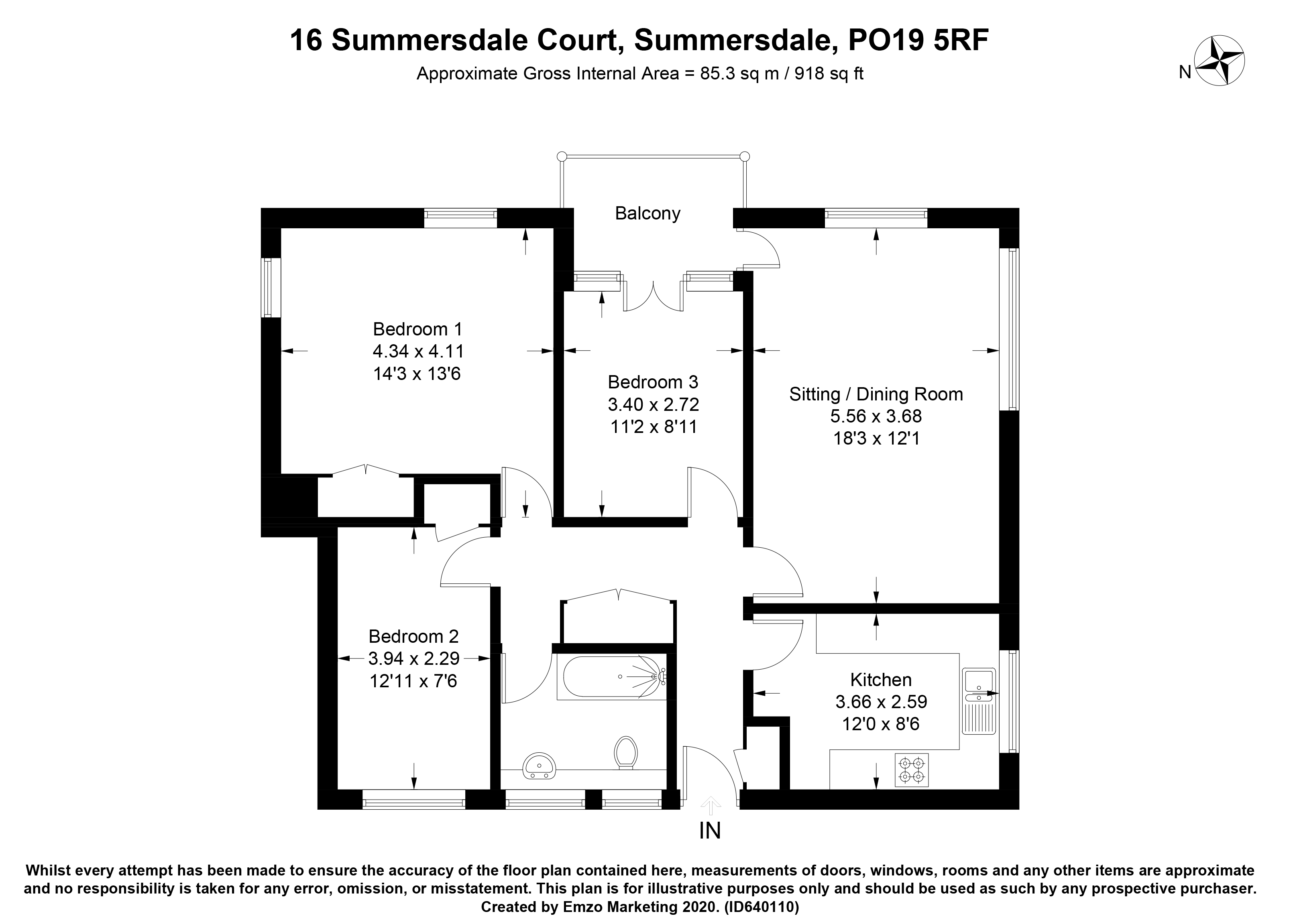 Summersdale Court, The Drive, Chichester, PO19 floorplans