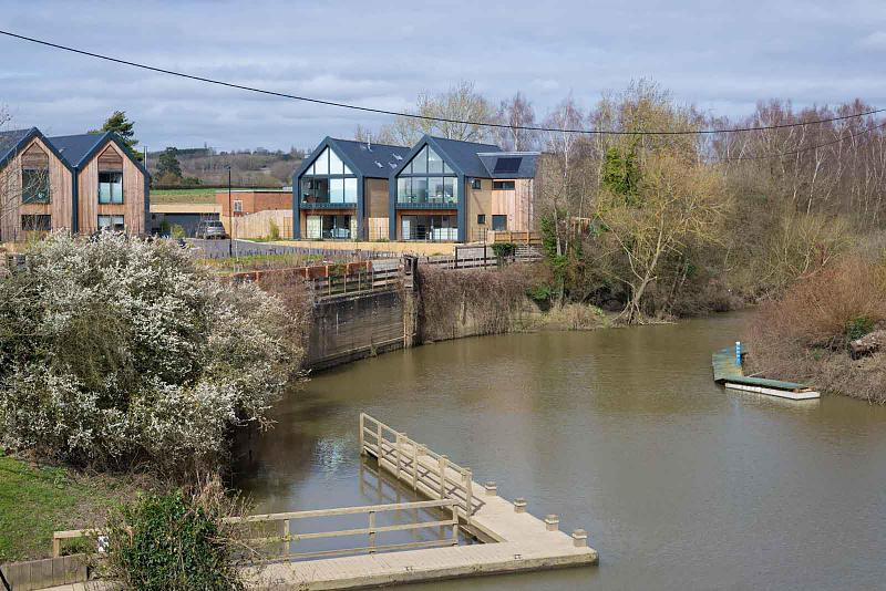 Views of river and house