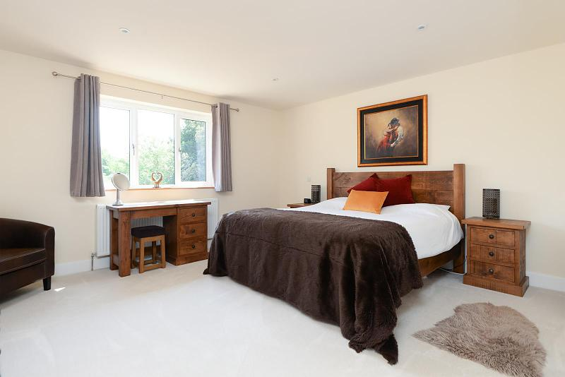 Master bedroom with dressing room and en-suite