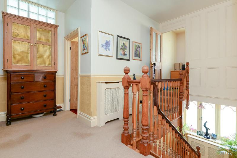 Landing with upstairs cloakroom & study area