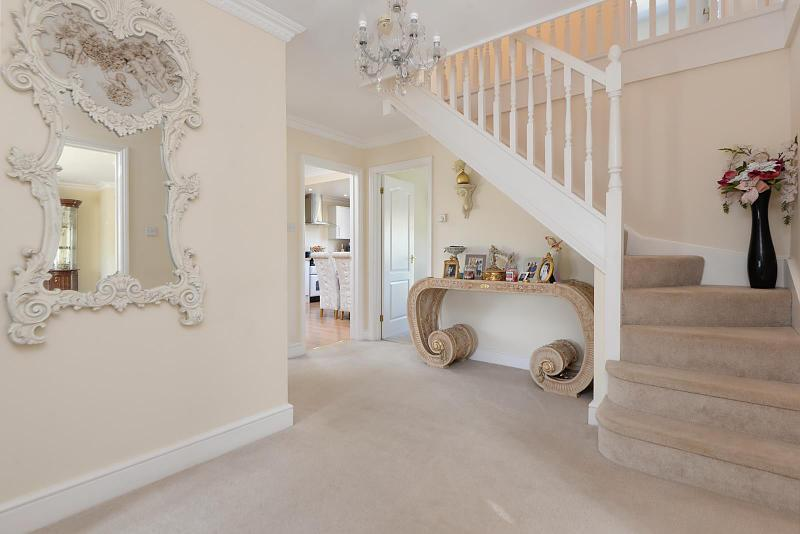 Entrance hall with downstairs cloakroom