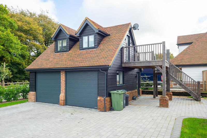 Detached double garage with self contained annexe