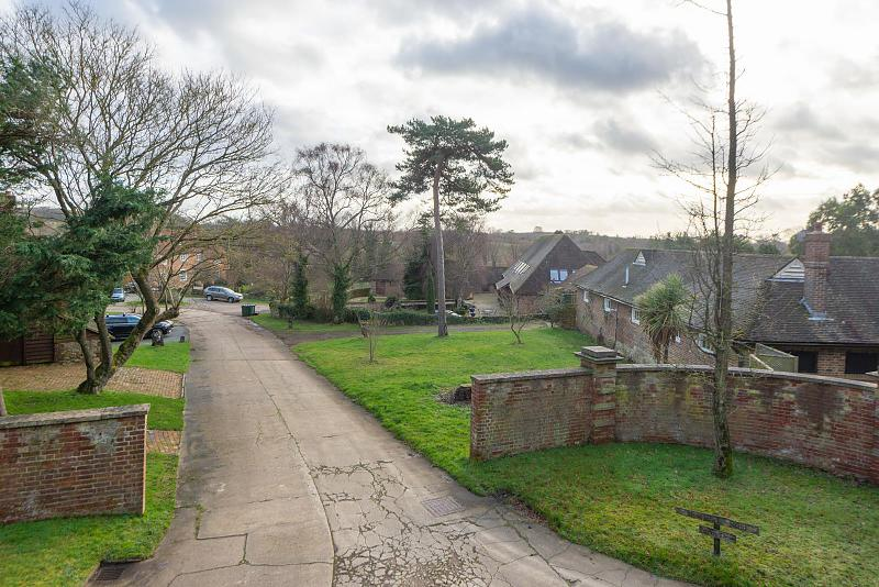 Approach into the stud from Newlands Road